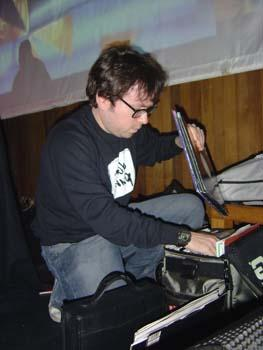 Yoda @ The Movies - 11.3.05 - James DJ-ing.JPG